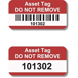 Asset Tags printing uk