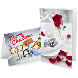 custom folded greeting cards printing