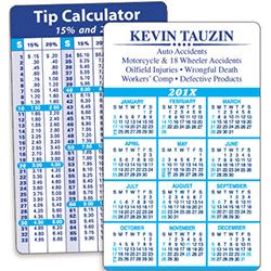 Wallet Calendars printing service uk